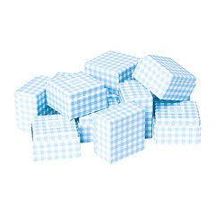 Little Gift Boxes (Set of 12) Vichy Blue