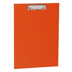 Clipboard with metal clip, efalin cover, orange