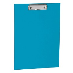 Clipboard with metal clip, efalin cover, turquoise