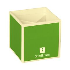 Pencil Cup with 4 separate compartments, lime