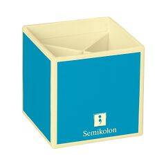 Pencil Cup with 4 separate compartments, turquoise