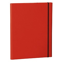 Clip Folder with metal clip,pen loop, elastic band (A4) & letter size,efalin cover, red