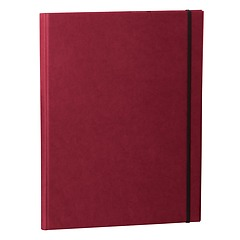 Clip Folder with metal clip,pen loop, elastic band(A4) & letter size,efalin cover,burgundy