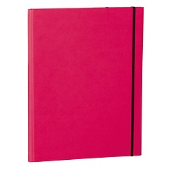 Clip Folder with metal clip,pen loop, elastic band (A4) & letter size,efalin cover, pink