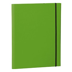 Clip Folder with metal clip,pen loop, elastic band (A4) & letter size,efalin cover, lime