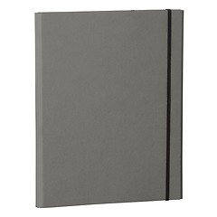 Clip Folder with metal clip,pen loop, elastic band (A4) & letter size,efalin cover, grey