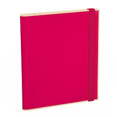 Clipfolder with 3 pockets, metal clip and elastic band (A4) and letter size, pink