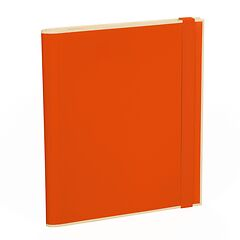 Clipfolder with 3 pockets, metal clip and elastic band (A4) and letter size, orange