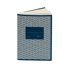 Exercise Book (A6) with a Tag to personalize, ruled, mar