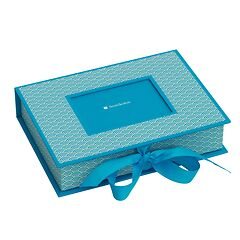Small Photobox with cut out window, turquoise
