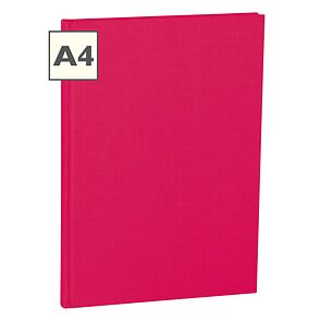 Notebook Classic (A4) book linen cover, 160 pages, ruled, pink