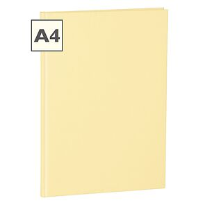 Notebook Classic (A4) book linen cover, 160 pages, ruled, chamois