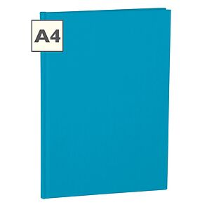 Notebook Classic (A4) book linen cover, 160 pages, ruled, turquoise