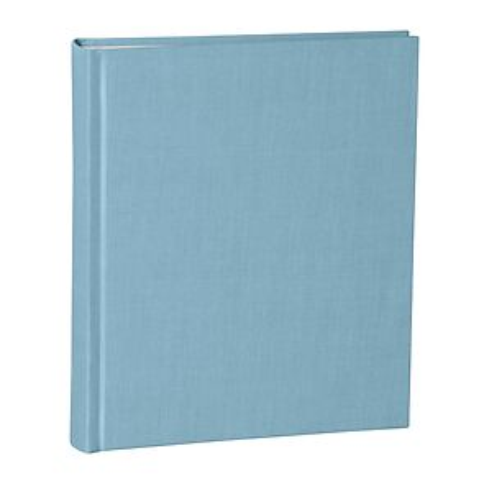 Album Medium, booklinen cover, 80pages, cream white mounting board, glassine paper, ciel