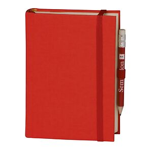 Travel Diary Petit Voyage, 304 pages of laid paper, plain, red