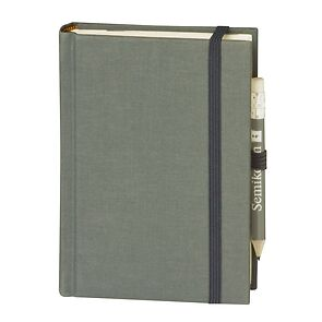 Travel Diary Petit Voyage, 304 pages of laid paper, plain, grey
