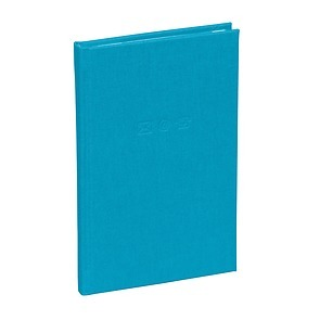 Adress Book small,protected tabs,cream white sheets board,book linen cover, 96p.,turquoise