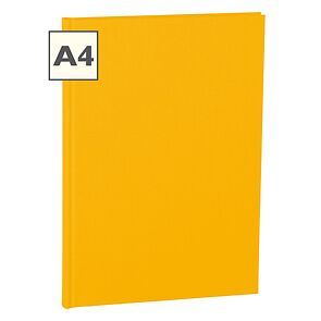 Notebook Classic (A4) book linen cover, 160 pages, plain, sun