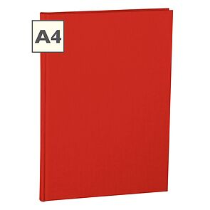 Notebook Classic (A4) book linen cover, 160 pages, plain, red