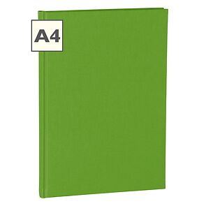 Notebook Classic (A4) book linen cover, 160 pages, plain, lime