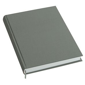 Notebook History Classic (A4) book linen cover, 160 pages, plain, grey