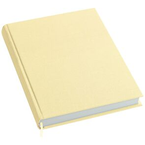 Notebook History Classic (A4) book linen cover, 160 pages, plain, chamois
