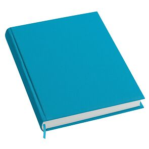 Notebook History Classic (A4) book linen cover, 160 pages, plain, turquoise