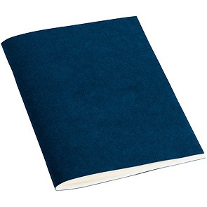 Filigrane Journal A6 with laid paper, 64 pages, ruled, marine