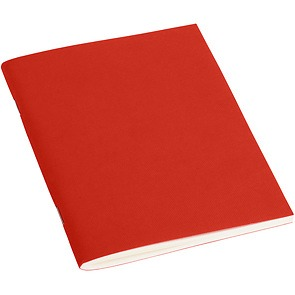 Filigrane Journal A6 with laid paper, 64 pages, ruled, red