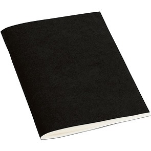 Filigrane Journal A6 with laid paper, 64 pages, ruled, black
