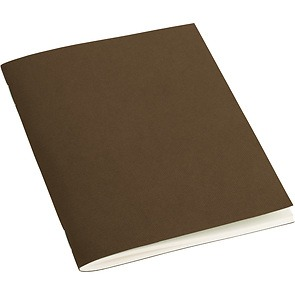 Filigrane Journal A6 with laid paper, 64 pages, ruled, brown