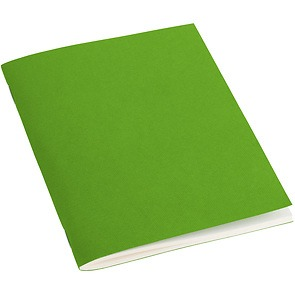 Filigrane Journal A6 with laid paper, 64 pages, ruled, lime