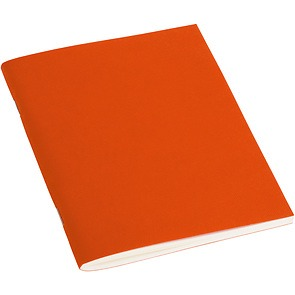 Filigrane Journal A6 with laidpaper, 64 pages, ruled, orange