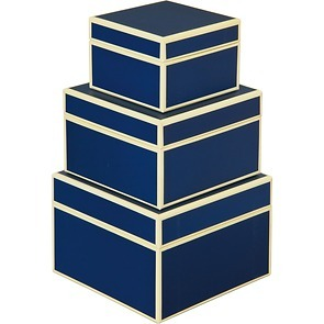 Set of 3 Gift Boxes, small, marine