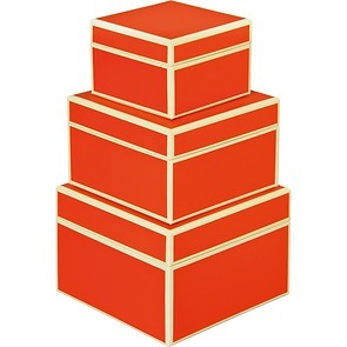 Set of 3 Gift Boxes, small, orange