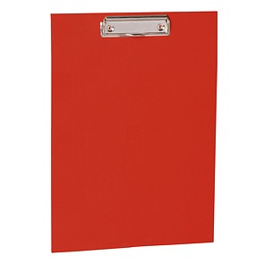 Clipboard with metal clip, efalin cover, red