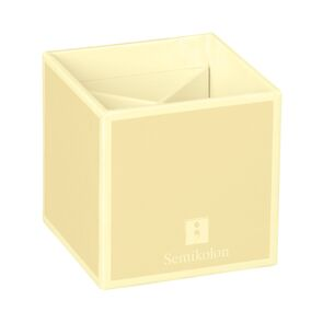 Pencil Cup with 4 separate compartments, chamois