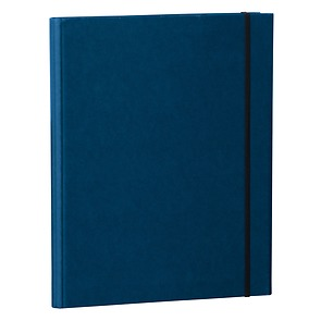 Clip Folder with metal clip,pen loop, elastic band (A4) & letter size,efalin cover, marine