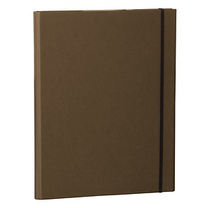 Clip Folder with metal clip,pen loop, elastic band (A4) & letter size,efalin cover, brown