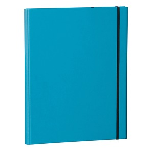 Clip Folder with metal clip,pen loop,elastic band(A4) & letter size,efalin cover,turquoise