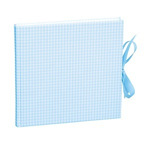 Guestbook, 240 pages, vichy blue