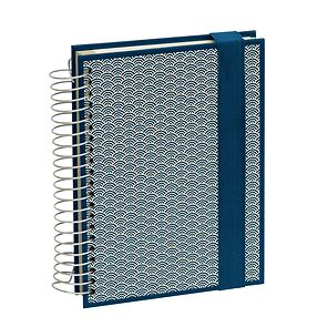 Mucho (A5) spiral-bound notebook, 330 pages, 3 different rulings, marine