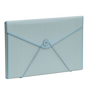 Envelope Folder with elastic band closure, ciel