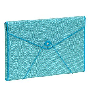Envelope Folder with elastic band closure, turquoise