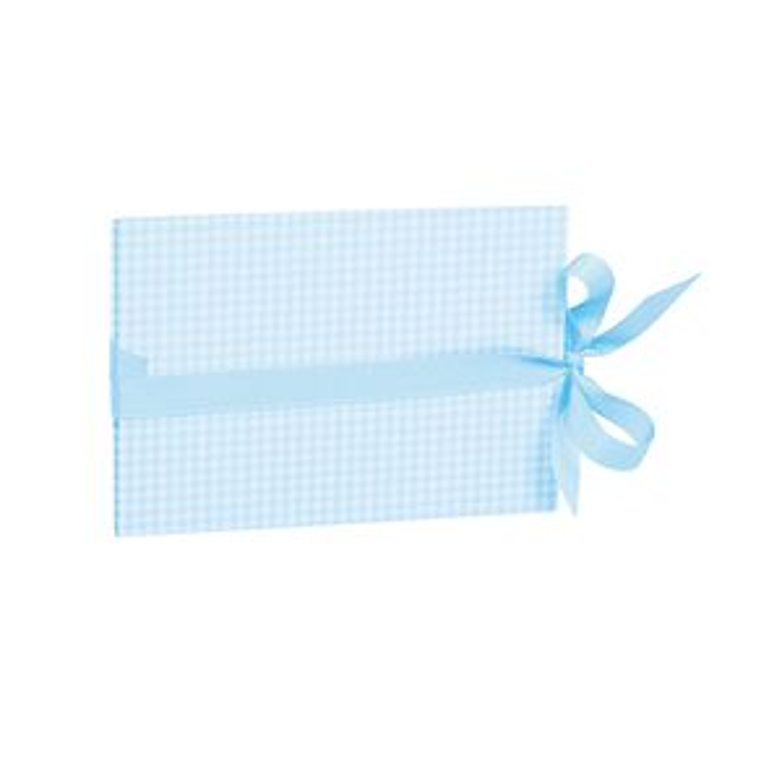 The small leporello horizontal, Vichy Blue