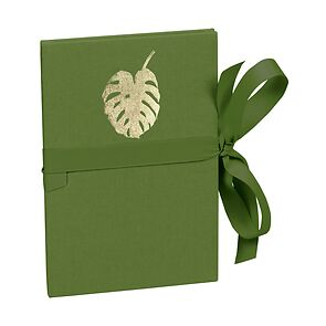 Leporello Classico Monstera gold embossing, 14 photos up to 10 x 15 cm, irish