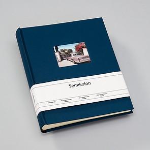 Album M Finestra marine, 80 p. cream mounting board, glassine paper, cutout f. cover pic.