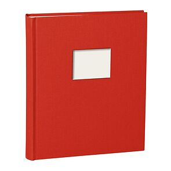 Album M Finestra burg., 80 p. cream mounting board, glassine paper  & cutout f. cover pic