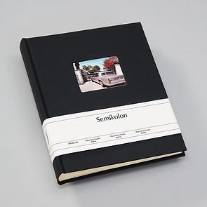 Album M Finestra black, 80 p. cream mounting board, glassine paper  & cutout f. cover pic