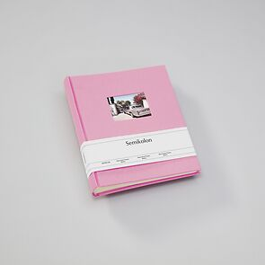 Album M Finestra flamingo, 80 p. cream mounting board, glassine paper, cutout f. cover pi